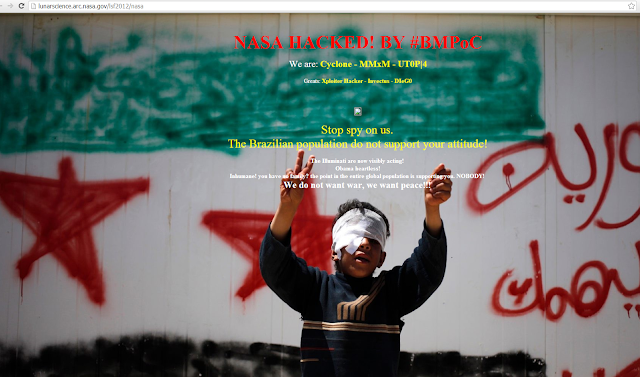 NASA website Hacked; Protest by Hackers against US action on Syria and Brazil Spying