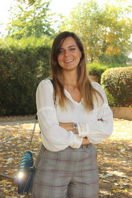 pantalon à carreaux zara, look du jour, les petites bulles de ma vie