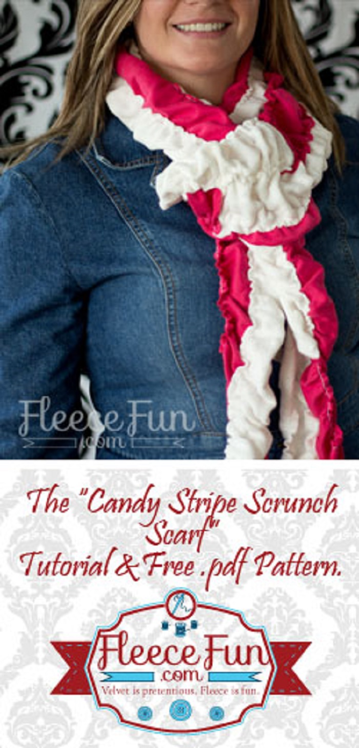 Candy Stripe Scrunch Scarf