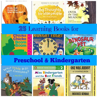 25 Learning Books for Preschool & Kindergarten