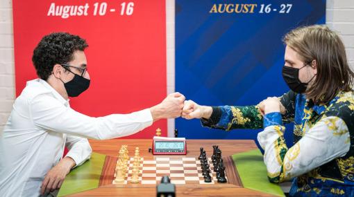 Retournement de situation spectaculaire dans la partie opposant Caruana à Rapport - Photo © Grand Chess Tour
