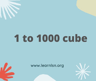 perfect cjbe number from 1 to 1000, 1 to 100 cube