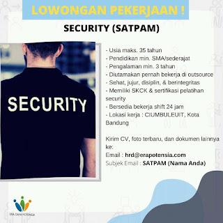 Lowongan Kerja Security PT. Era Daya Potensia