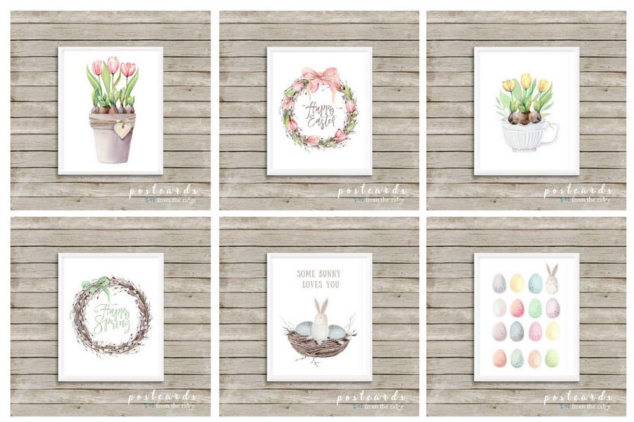watercolor spring printables