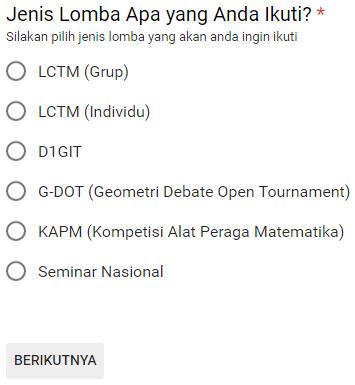 Pendaftaran Online Geometri 2017