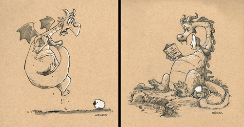 00-Brian-Kesinger-Drawings-that-Show-the-Kinder-Side-of-Dragons-www-designstack-co