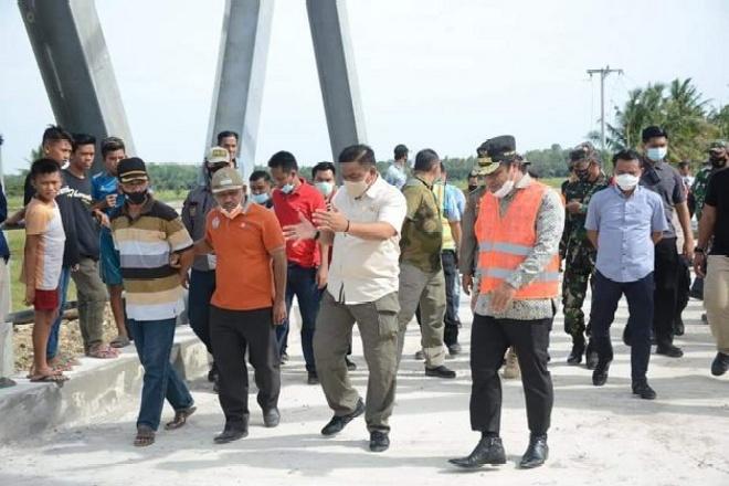 Jembatan Watu Segera Dibuka, Wagub Sulsel Pantau Pembangunan