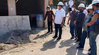 Bupati dan Wakil Bupati Samosir Monitoring Proyek Penataan Kampung Ulos Huta Raja dan Huta Siallagan