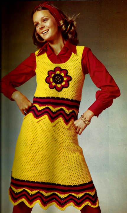 The Vintage Pattern Files: Free 1960's Crochet Pattern - Ripple Edge Skirt and Top