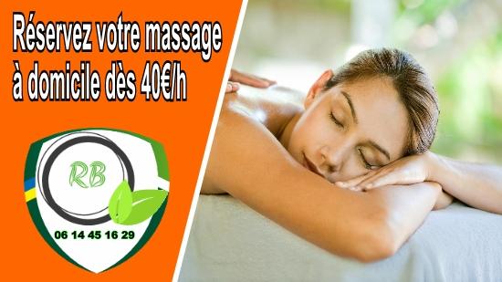 Réservez votre massage à domicile dès 40€/h;