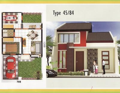 Desain Denah Rumah Type 45/84