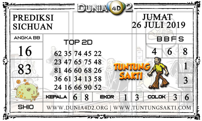 """Prediksi Togel """"SICHUAN"""" DUNIA4D2 26 JULI 2019"""