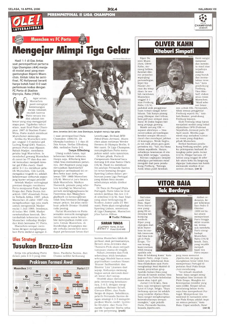MUENCHEN VS FC PORTO MENGEJAR MIMPI TIGA GELAR