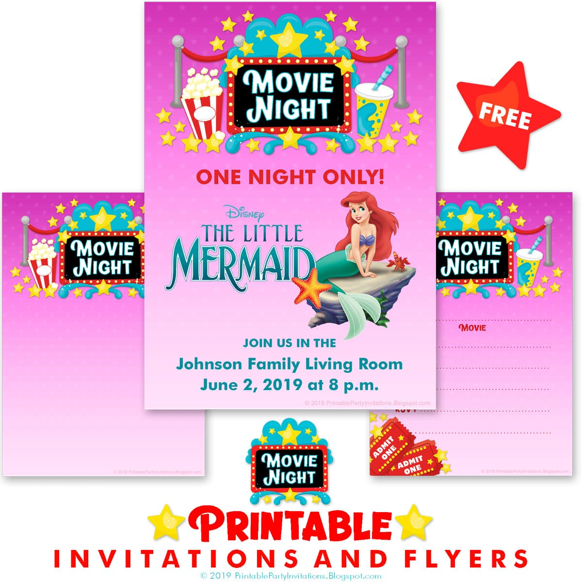 image regarding Movie Night Invitations Free Printable identified as Cant obtain subsution for tag [article.overall body]--\u003e Online video Night time
