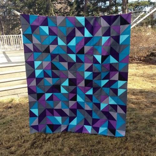 Ombré HST Quilt - Free Pattern