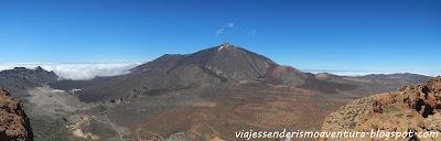 Panorámica del Teide desde la montaña de Guajara