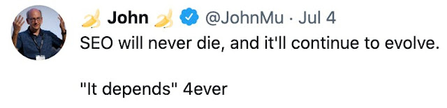 tweet by john google seo expert