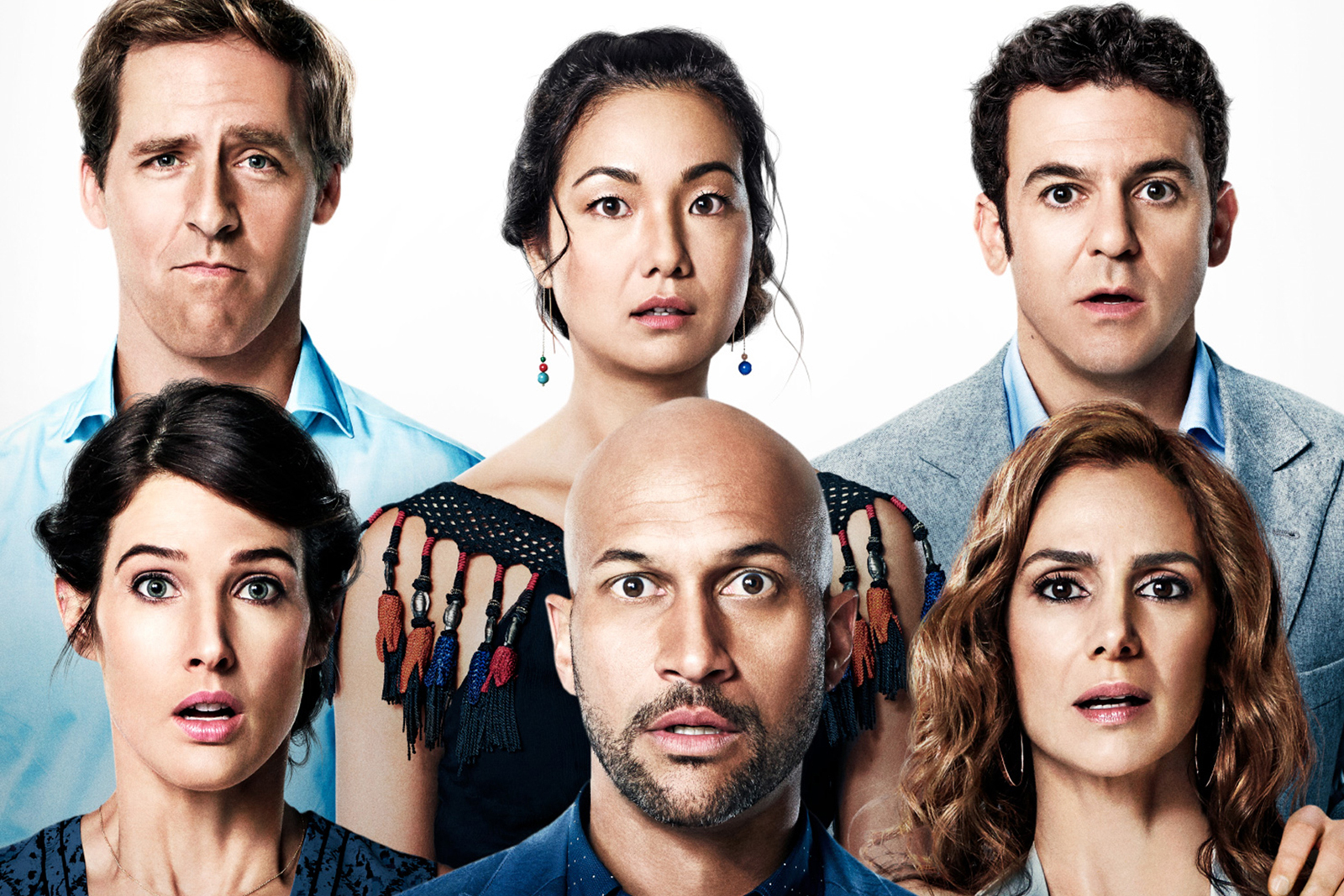 El reparto de Friends from College, Netflix, en el poster promocional