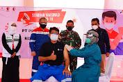 Dukung Percepatan Kekebalan Komunal, Pertamina EP Cepu Bekerja Sama dengan TNI Gelar Serbuan Vaksinasi Proyek Gas JTB