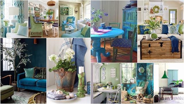 Διακοσμήσεις σε Μπλε-Πράσινο
