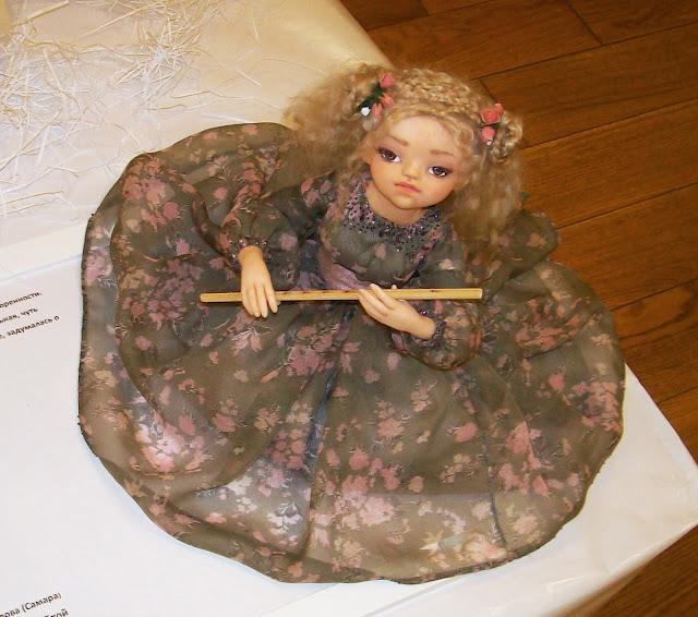"""Выставка авторской куклы в Самаре """"Куклы. Эмоции. Чувства."""", Юлия Ермилова (Самара) """"Фея с флейтой"""""""