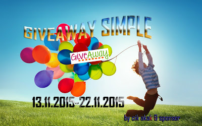 Giveaway Simple By Cik Akak & Sponser