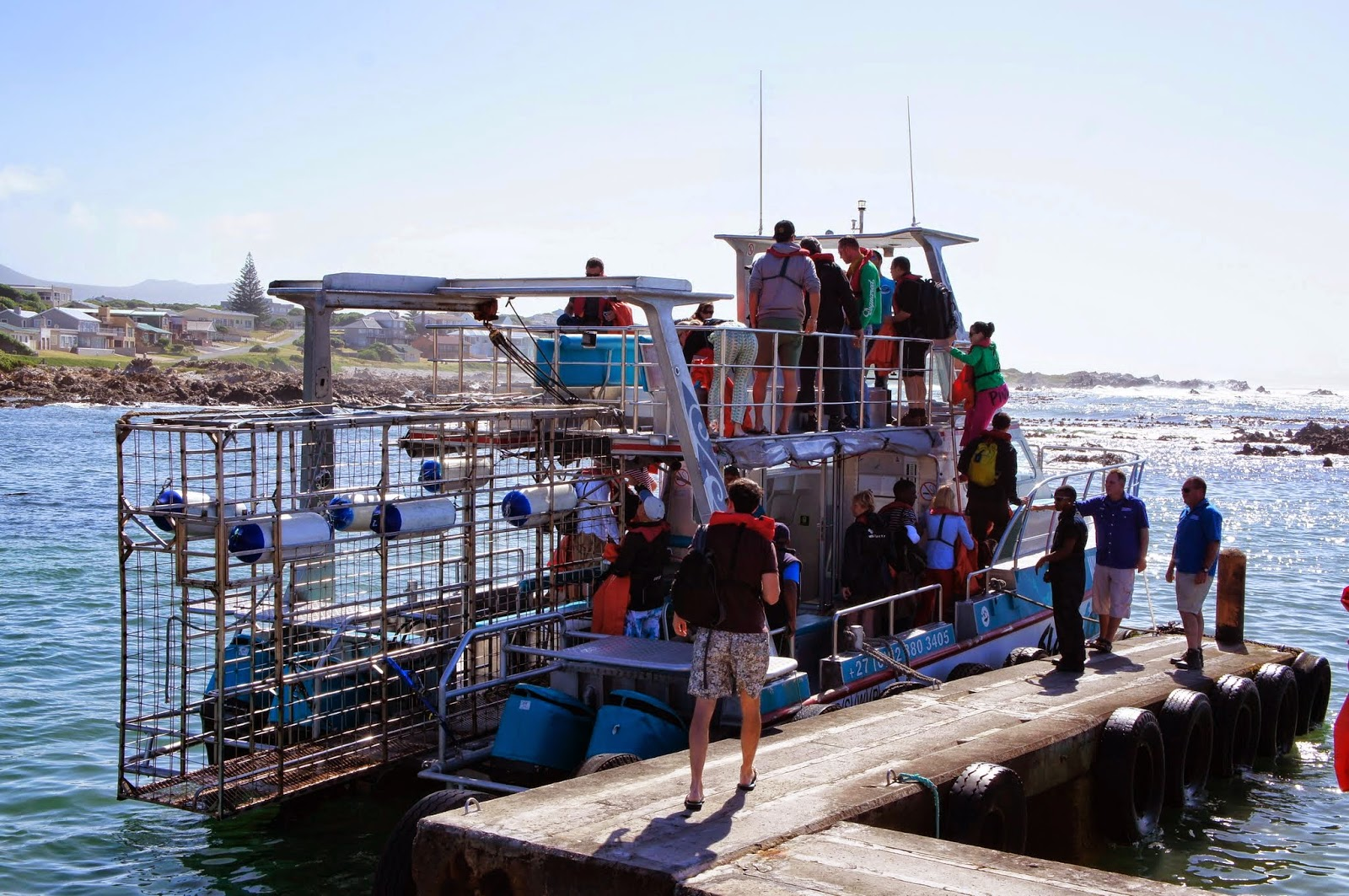 Kleinbaai - Our boat for the Cage Diving Tour