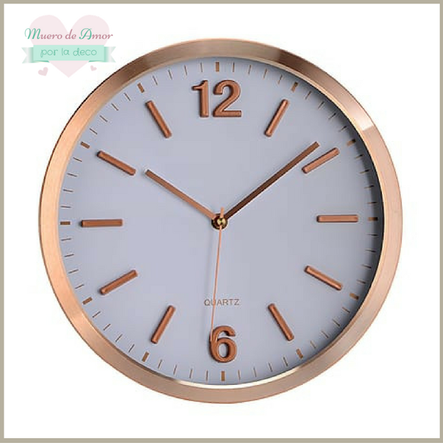 Decoracion en color cobre-Reloj-1