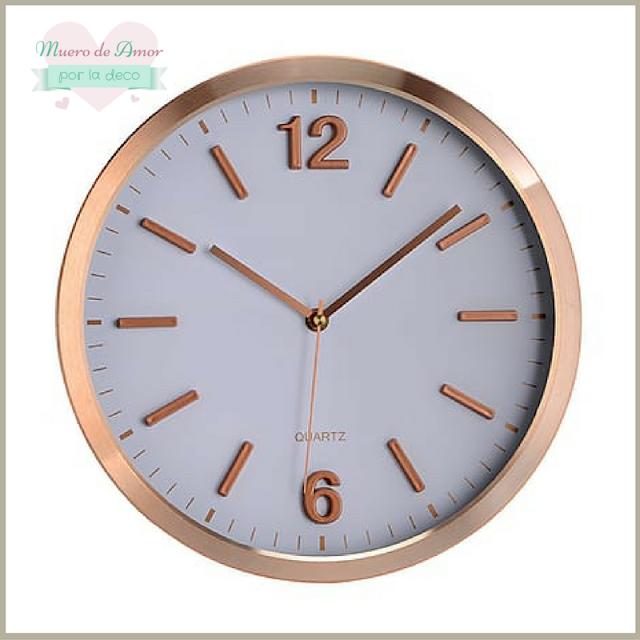 Decoracion en color cobre-Reloj-1