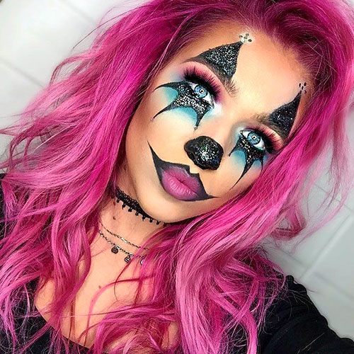 Maquillaje con purpurina para Halloween
