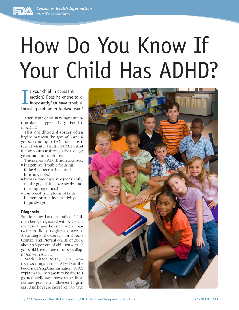 How do you know if you child has ADHD?