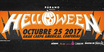 HELLOWEEN PUMPKINS UNITED WORLD TOUR 2017 EN COLOMBIA