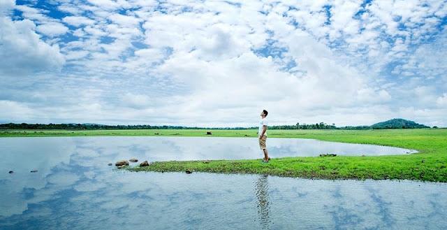 Hồ Ea Kao vào mùa khô đẹp mê ly