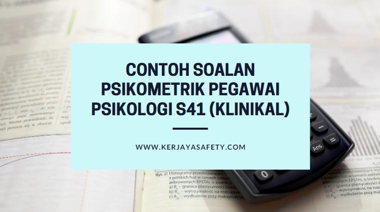 Contoh Soalan Psikometrik Pegawai Psikologi S41 (Klinikal)