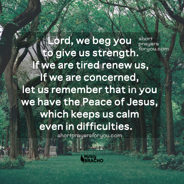 christian image with short prayer when facing difficult times, hard moments, prayers for today