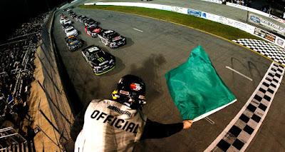 Hailie Deegan leads the field to the green flag. #NASCAR