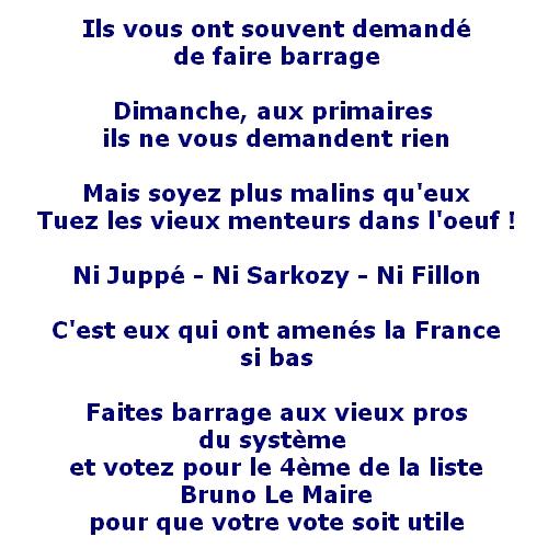 Votez Bruno Lemaire