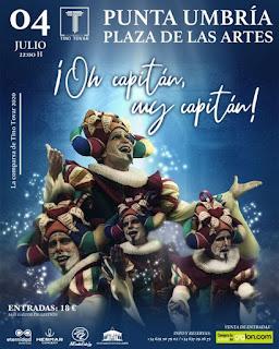 El primer premio de comparsas del Carnaval de Cádiz llega este sábado a Punta Umbría