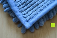 Ecke hinten: Norcho 50x80cm Absorbierende Rutschfeste Badematte für Hund und Badezimmer Blau