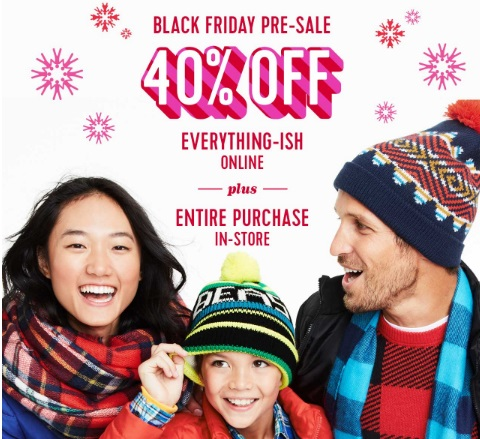 Old Navy Black Friday Pre-Sale 40% Off