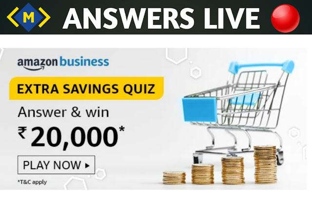 Amazon Extra Savings Quiz Answers - Win 20000