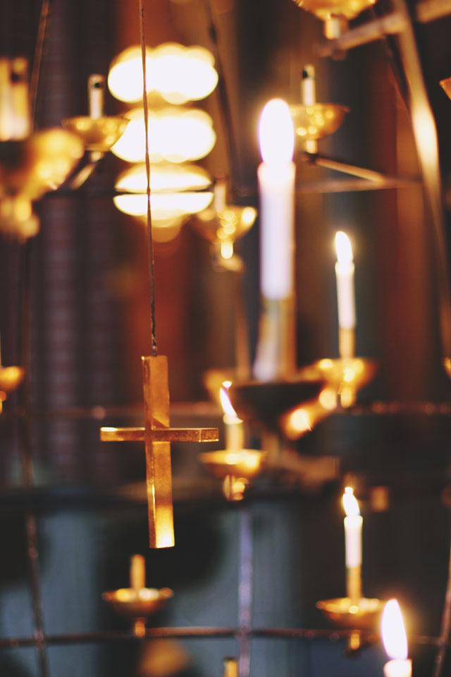 Candles Crucifix