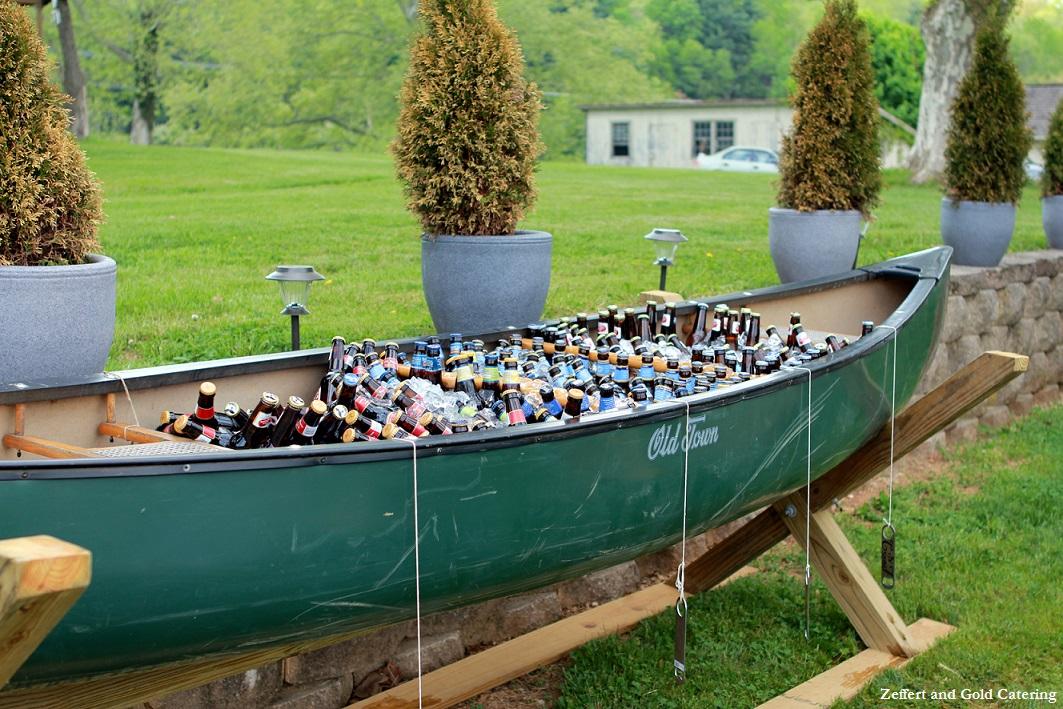 Canoe Cooler Wedding Drink Station