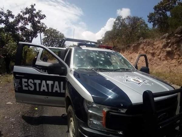 Así quedaron los policías que fueron emboscados  por el Cártel de Jalisco Nueva Generación