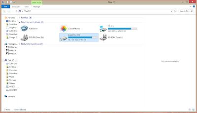 Tampilan File Explorer awal untuk menjelajah data file