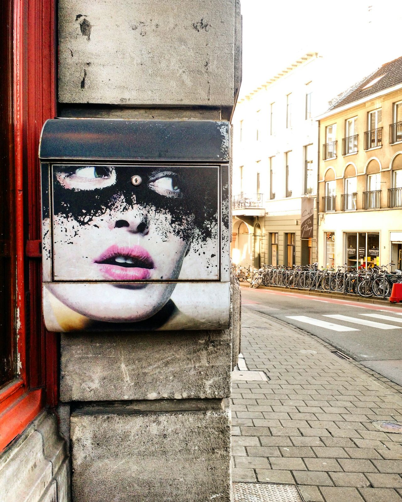 Le Chameau Bleu - street art postal