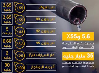 زيادة أسعار الوقود بنسبة 100% في بعض المواد البترولية في مصر