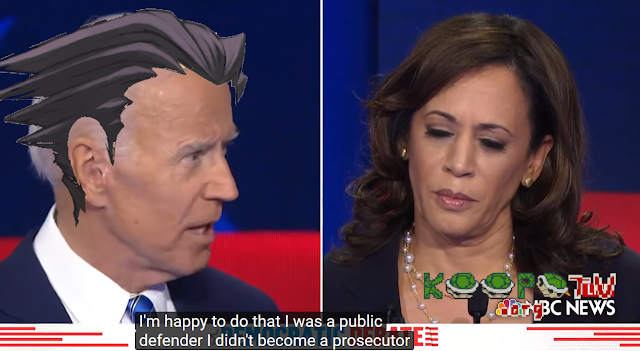 Joe Biden Phoenix Wright Ace Attorney public defender not prosecutor like Kamala Harris debate