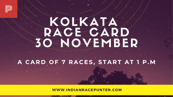 Kolkata Race Card 30 November