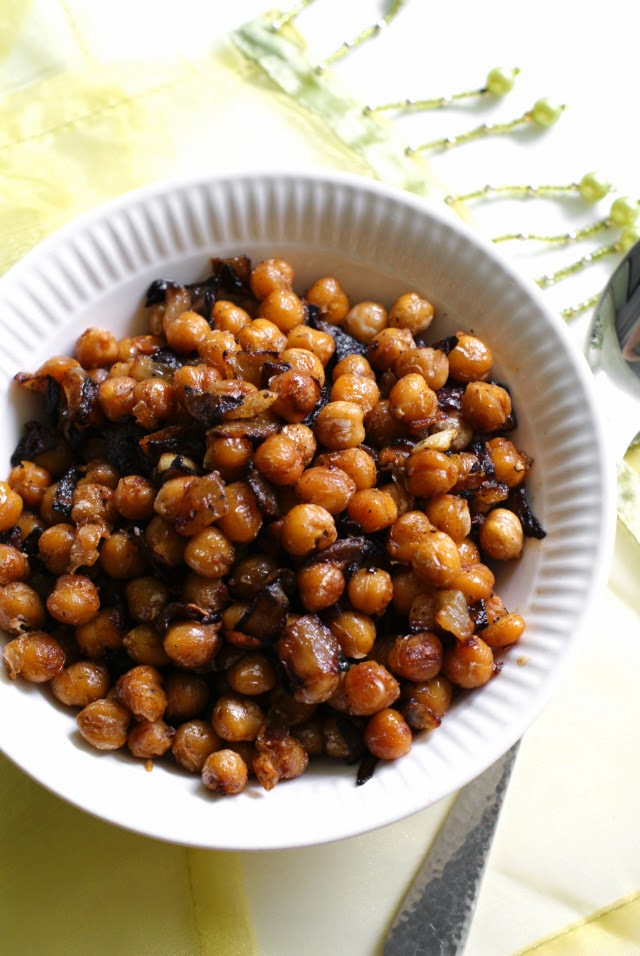 Pan Fried Chickpeas & Onions